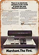1970 Marchant Digitaler Taschenrechner Metallschilder Vintage Retro Metall Wandschild Wanddekoration Schild Metallplakat für Garage Man Cave -