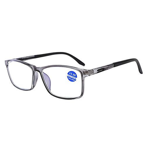 Lesebrille TR90 Lesebrille Anti-Blue Sonnenbrille Strahlungsschutz Rahmenspiegel für Damen und Herren Tragbar Herren Herren xl grau