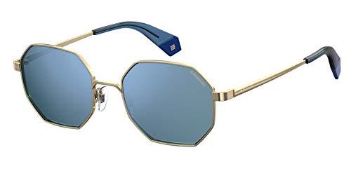 Polaroid pld 6067/s occhiali da sole, gold blue, 53 unisex adulto