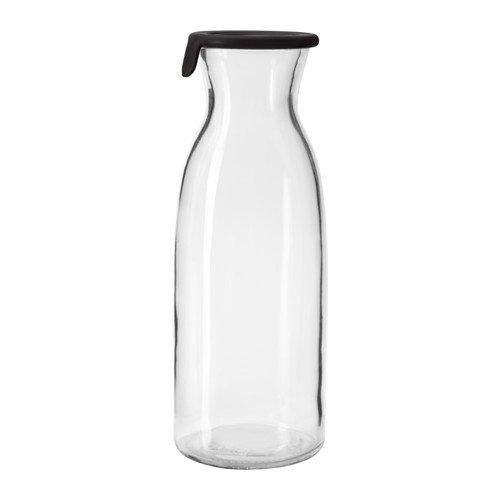 Ikea Vardagen Glasflasche mit Deckel, Glas, transparent, 1 l