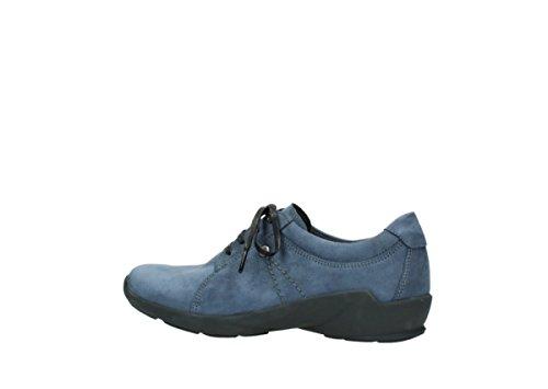 Wolky 1570 Sena, Sneaker donna blank 180 dark blue oiled nubuck