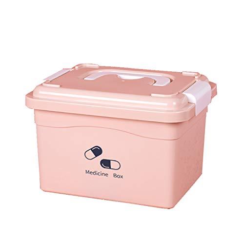 ZZZGY hausapotheke, Erste-Hilfe-Box, Notfallmedizin-Box, Aufbewahrungsbox für Medikamente, herausnehmbares Multifunktionstablett, zusammenklappbarer Tragegriff