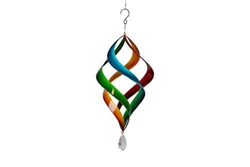 TS Gardendeco Windspiel Iron, dekorativ und pulverbeschichtet, mehrfarbig, 23 x 23 x 46 cm, 134439