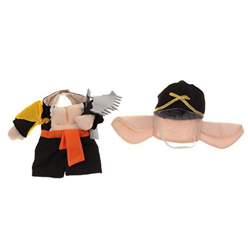 Hundekostüm Schwein Mönch Cosplay Kostüm für Halloween Party - S ()