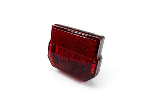LED Rücklicht Bremsschlussleuchte - E-geprüft - 12V - mit Kennzeichen Beleuchtung - Eckig - für Simson Moped's (10-041)