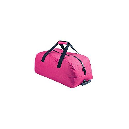 Borsone trolley donna multiuso, ideale per viaggi o fitness, colore: fucsia