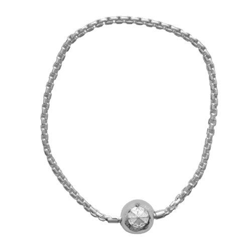Thomas Sabo Damen-Armband 925 Silber Zirkonia weiß 19 cm - KA0001-001-12-L19