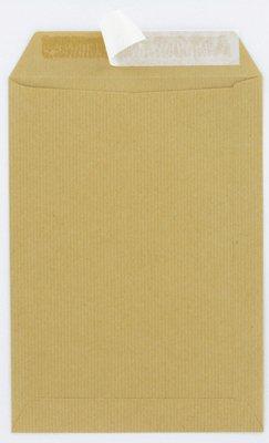 Majuscule-enveloppes Kraft 90g 16x23 Bandes Detachables Ep - Paquet De 5