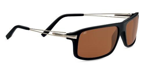 Serengeti Eyewear Sonnenbrille Rivoli, Satin Black/Silver Satin Temples, M/L, 7765