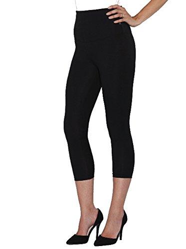 Angel Schwangerschafts-Leggins/Leggins für den Bauch - Schwarz - X-Klein (Womens Plus Größe Kleidung Capris)