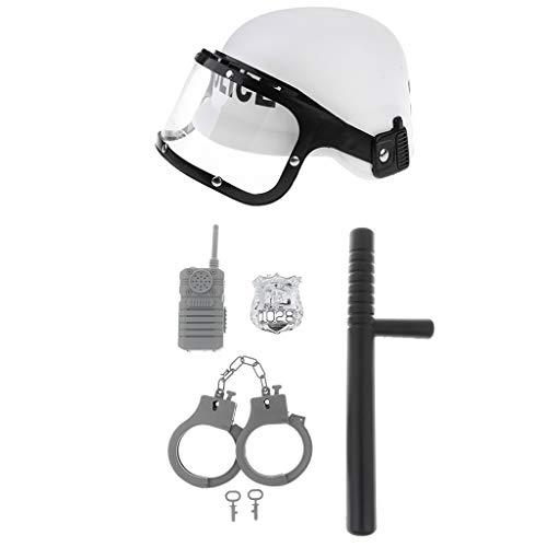 F Fityle Polizei / Feuerwehrmann / Bauarbeiter Kostüm für Kinder, Verkleidung für Fasching und Karneval Kleinkind Kostüme - Polizei Kostüm Set (Kleinkind Polizei Kostüm)