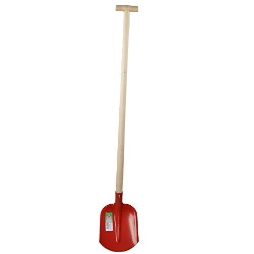 Emsländer Schaufel 110cm T-Stiel rot Sandschaufel Gartenschaufel Bauschaufel Flache Schaufel