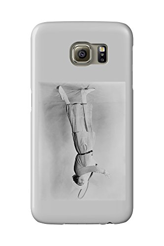 Woman Swinging Tennis Raquet (Galaxy S6 Cell Phone Case, Slim Barely There)