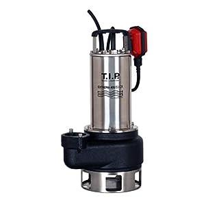 T.I.P. 30168 Profi Schmutzwasser Tauchpumpe und Baupumpe Extrema 400/11 Pro (2 Zoll Anschluss vertikal), bis 24.000 l/h Fördermenge