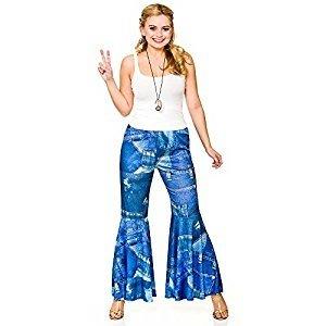 Disfraz Hippie Pantalones Vaqueros (Pequeña 38-40)