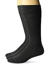 Marca Amazon - Buttoned Down Pack 3 Calcetines Vestir Algodón Pima Hombre