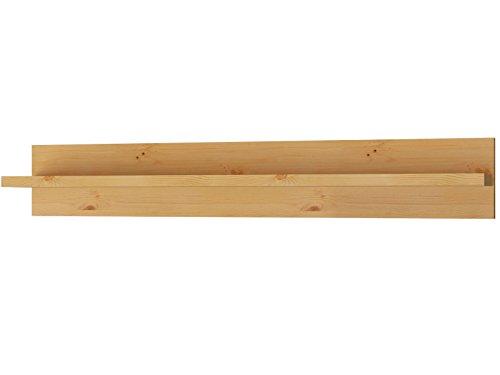 Komplett Wohnwand YORK 2 VITRINE WOHNZIMMER MÖBEL aus Kiefer massiv Massivholz in gebeizt geölt, weiß & honig, weiß (gebeizt geölt) - 3