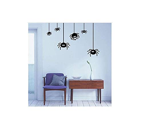 Zykang 3D Wandaufkleber Neue Kunst Aufkleber Dekor Halloween Spinne Wandaufkleber Wohnzimmer Schlafzimmer Dekorative Wasserdicht Aufkleber (Halloween-dekor Spinnen)