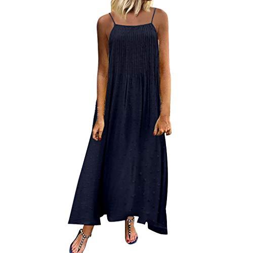 Deep lovly Frauen Kleid Damen O-Ausschnitt Abendkleider Vintage Kleider Solide Lace Plissee Ärmellos Kleid Cocktailkleid Elegant Retro Freizeit Mittellanges Schulterfreies Rock PartyMinirock -