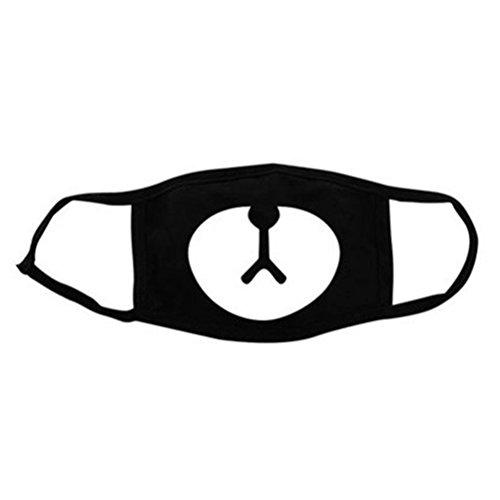 NUOLUX Mund Gesicht Maske Unisex Baumwolle Mund Gesicht Maske Atemschutzmaske für den Radsport Anti-Staub