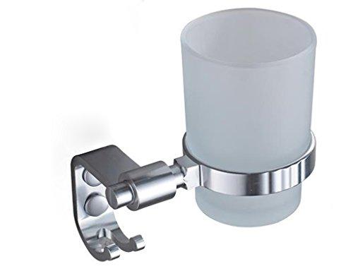 Preisvergleich Produktbild ZHANGY Zahnbürstenhalter Badezimmer Wandschale Raum Aluminium Glas Zahnpasta Zahnstange Badezimmer Hardware-Zubehör