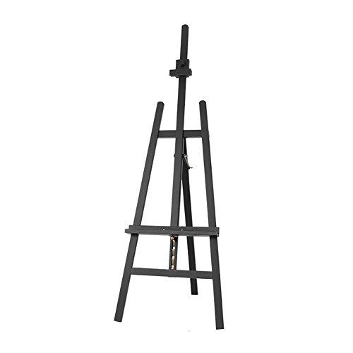 LXLA- Buche Künstler Malerei Staffelei Werbung Display Stand Stativ Studio Halter für Outdoor Skizzieren Max Höhe 193 cm (Farbe : Schwarz)