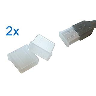 smartec24® 2x USB TPU Schutzkappe in transparent. Staubschutzkappe für den effektiven Schutz eines USB A Steckers