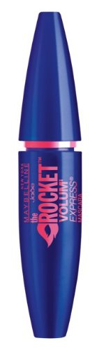 Maybelline Volum' Express The Rocket Mascara in Very Black, schwarze Wimperntusche für explosives Volumen, mit spezieller Volume-Load-Bürste und Fast-Glide-Formel, 9,6 ml