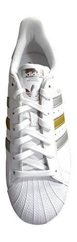 adidas originali superstar scarpe da ginnastica da uomo S31641 scarpe da tennis white silver gold BB4882