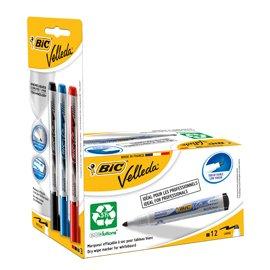 Velleda 942234-Pack di 12pennarelli per lavagna bianca e 3Prenotazioni di inchiostro, colore: nero