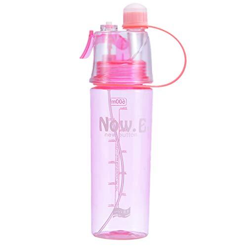 SprüHbecher, Chshe TM, Sport Cycling SprüHnebelspray Wasser Gym Strandflasche Auslaufsicherer Trinkbecher-Luftbefeuchter 600Ml(Rot) -