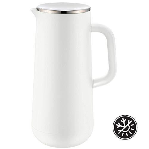 WMF Isolierkanne Thermoskanne Impulse, 1,0 l, für Kaffee oder Tee Drehverschluss hält Getränke 24h kalt und warm, weiß -