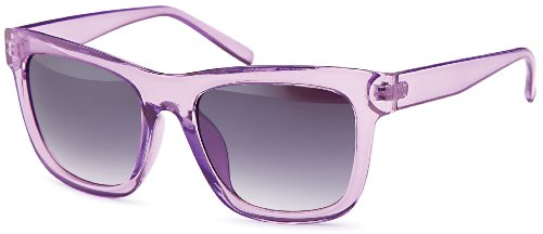 Transparente Sonnenbrillen in trendiger eckiger Form und angesagten Pasteltönen, Brillentrends 2014