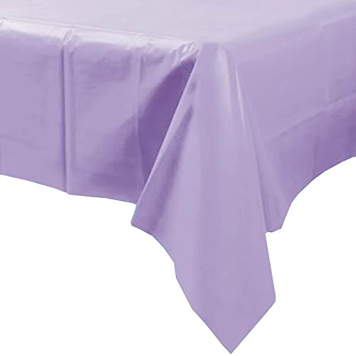 Plastic Disposable Party Tablecloth (Lilac) by party tableware