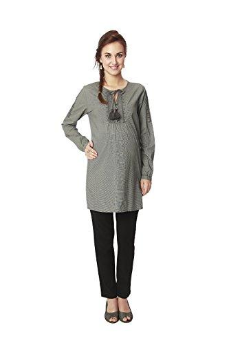 Nine Maternity Wear Tunic In Grey