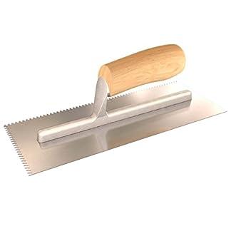 Bon 14-319 – Llana dentada con forma de V (27,9 x 11,4 cm, mango de madera)