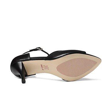 LvYuan Sandali-Ufficio e lavoro Formale Serata e festa-D'Orsay Club Shoes-A stiletto-Pelle-Nero Argento Black