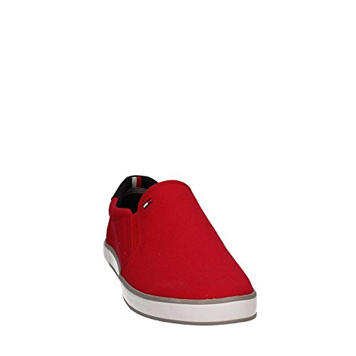 Tommy Hilfiger Herren Iconic Slip On Sneaker Rot (Tango Red 611)