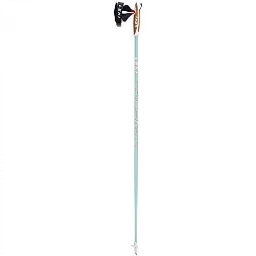 LEKI Passion Nordic Walking Stock, Mint/White/Coral, 110