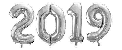 FUNXGO Folienballon Zahl 2019 - XXL 40