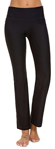 PhiFA-Women-Yoga-Pants-High-Waist-Workout-Leggings-Running-Tights-with-Pocket-Black-Medium