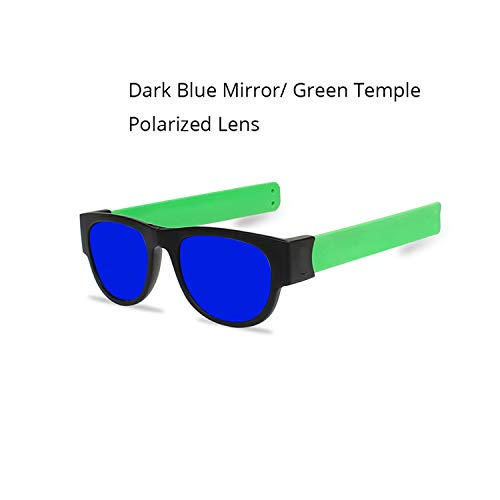 Sport-Sonnenbrillen, Vintage Sonnenbrillen, Slap Sunglasses Polarized Mirror WoMänner Slappable Bracelet Sun Glasses For Männer Wristband Fold Shades Oculos Colorful Fashion Blue Mirrored1