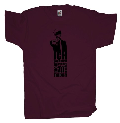 Ma2ca - Pulp Samuel Fiction - T-Shirt Burgundy