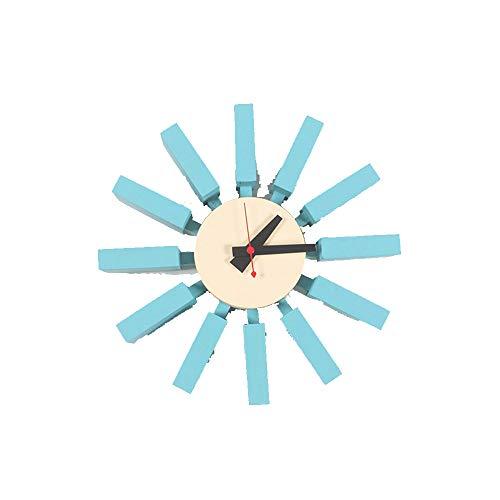AUMING Orologi da Parete Orologio Rolex con Orologio a Forma di Orologio da Cucina Creativo Orologio Nielsen Decorazioni per L'Arte e Artigianato Orologio da Parete con Luce Blu nordica