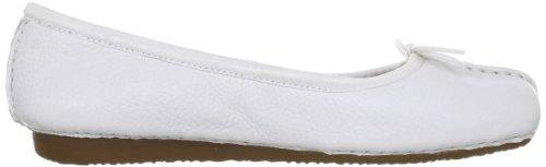 Clarks Freckle Ice, Damen Geschlossene Ballerinas Weiß (White Leather)