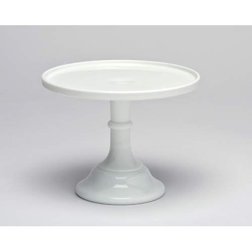 9-white-milk-glass-cake-stand-plate-bakers-quality-by-mosser-glassware