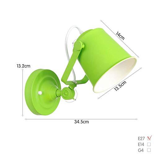 Bar Wandlampe 1-Licht, Vintage Verstellbare Industrie Schmiedeeisen Wandleuchte, Wandleuchte Für Schlafzimmer Arbeitszimmer Western Restaurant, Max 40W,Grün -