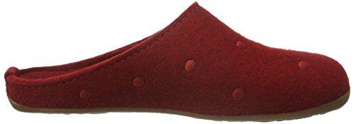 Haflinger Unisex-Erwachsene Everest Noblesse Pantoffeln Rot (Paprika 42)