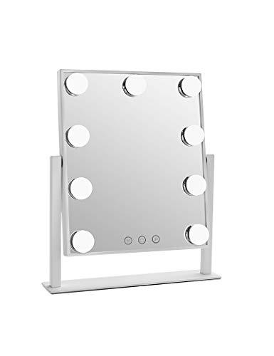 Iluminado Maquillaje Espejo Espejo cortesía Blanco