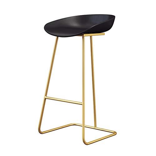 Zeitgenössische Moderne Barhocker Stühle - Mode Eisen Kunst Möbel - Schwarz umweltfreundliche rustikale Sitz - Metall Gold/Weiß/Schwarz Beine Fußstütze - Sitzhöhe: 65 cm, 70 cm, 75 cm -